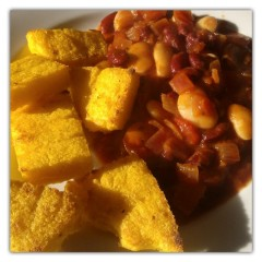 Bean Slop and Polenta