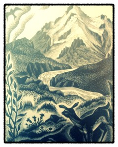 Woodcut by Nora Unwin