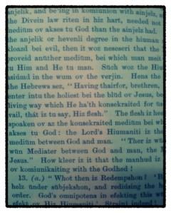 Wesley and Swedenborg in reformed spelling