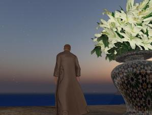 Moments after sunset from the Church of the Dawn Treader